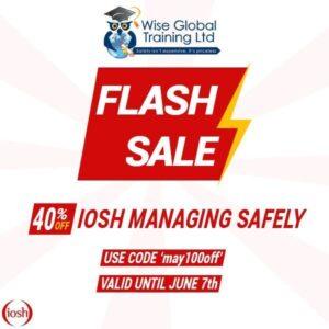 IOSH Flash Sale, IOSH Managing Safely, IOSH Working Safely online